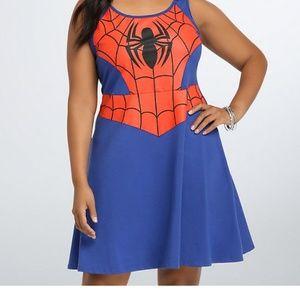 Torrid Halloween 4x Marvel Spiderman Skater Dress